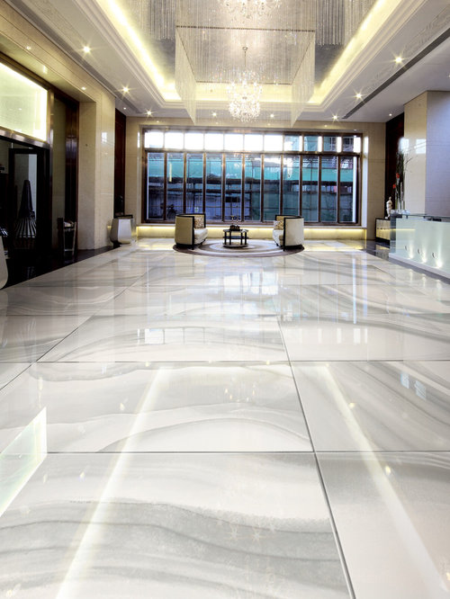 Cloudy Onyx White Polished Porcelain Tile