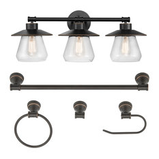Nate 5-Piece Oil Rubbed Bronze All-In-One Bathroom Set