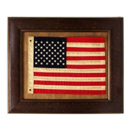 67ba576e04bd Large Aged Framed American Flag - Rustic - Wall Decor - by Burleson ...