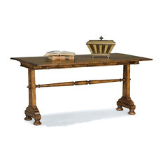 FAIRFIELD CHAIR CO   Traditional Drop Leaf Rectangular Sofa Table In  Heirloom Finish   Console