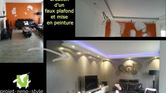 Création d'un faux plafond / Salon