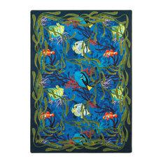 "Kaleidoscope Rug, Under the Sea, 7'8""x10'9"""