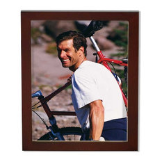 Frames by Mail Five Square Opening Collage Frame for 4 x 6 Photo Mahogany