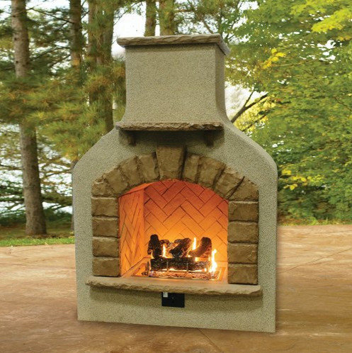 Sonoma Outdoor Fireplace. Sonoma Outdoor Gas Fireplace with Crystal Fire  Log Set Fireplaces Kits