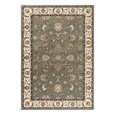 "Triumph Gray With Beige Border 2'2""x7'6"" Area Rug"