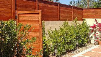 Custom Redwood Privacy Fencing & Door