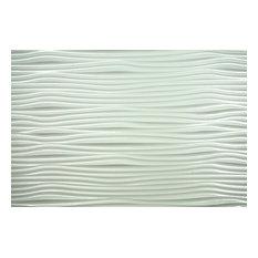 "Gobi Backsplash Tiles Decorative Wall Paneling, 18""x24"", Paintable White"