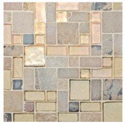 Random Glass and Stone Mosaic - Tile
