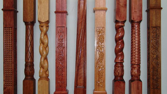 CNC Carved Stair  Newel Post
