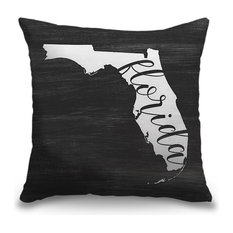 """""""Home State Typography - Florida"""" Pillow 16""""x16"""""""