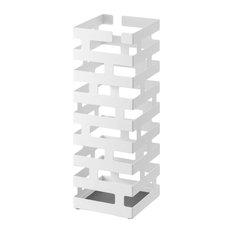 Brick Umbrella Stand, White