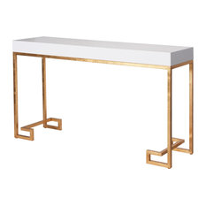 davinci hollywood regency white lacquer gold console table console tables