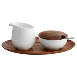 Contemporary Sugar Bowls And Creamers by nambé