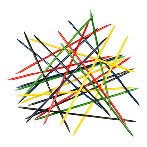 Jumbo Pick Up Sticks Classic Wooden Game, Outdoor Indoor Game By Hey! Play!