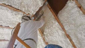 Spray foam insulation cork
