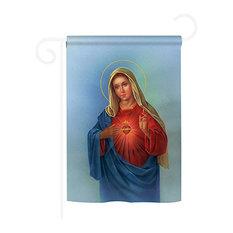 Sacred Heart Mary 2-Sided Impression Garden Flag