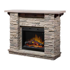 """Featherston Mantel Package with Electric Fireplace, 61""""es"""
