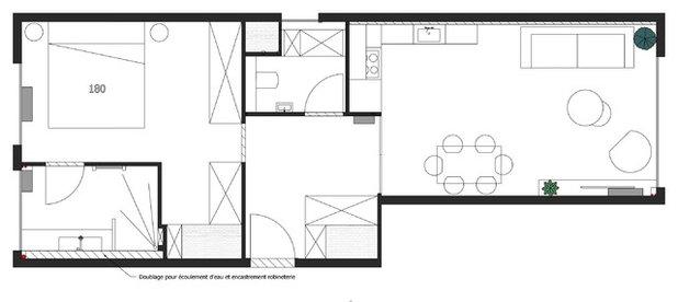 Contemporain Plan au Sol Appartement n°9, Sylvine Candas.