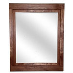 """Renewed Decor and Storage - Farmhouse Style Vanity Mirror, Red Chestnut, 24""""w X 30""""h - Our Farmhouse mirrors were inspired by my first home; the windows were framed out in a simple beautiful farmhouse style which I incorporated into the frame design of this mirror. Like most first time home owners our first house was a bit of fixer upper that had hidden charm. My wife and I spent many evenings refinishing each frame to bring new life to an old home so this design really holds a lot of memories for me."""