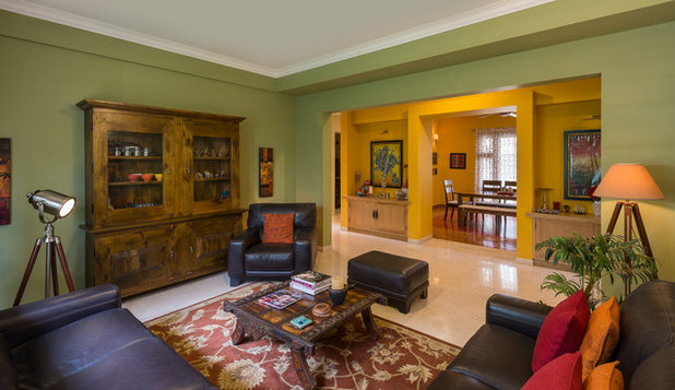 Eclectic Living Room by Shefali Singh, Architect