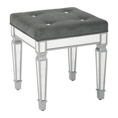 Office Star Products - Graphite Reflections Stool - Vanity Stools and Benches  sc 1 st  Houzz & Traditional Vanity Stools and Benches | Houzz islam-shia.org