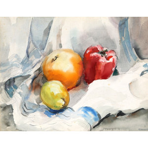 Eve Nethercott, Fruit Still Life, P5.22, Watercolor Painting