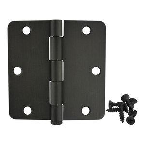 "36 Oil Rubbed bronze 3.5/""X3.5/"" 5//8/"" radius door hinges 3.5 inch round corner"