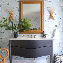 Glamorous Bohemian Bathroom Makes a Stylish Retreat