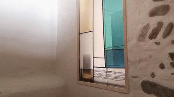 'Danish' - vitrail cloison contemporain