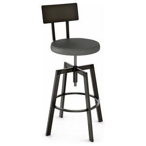 Awe Inspiring Jasper Swivel Textured Metal Stool Industrial Bar Stools Bralicious Painted Fabric Chair Ideas Braliciousco