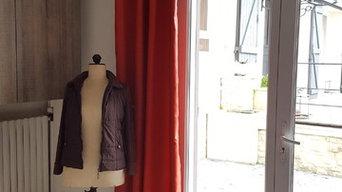 Réalisation de rideaux voilages pour un intérieur parisien