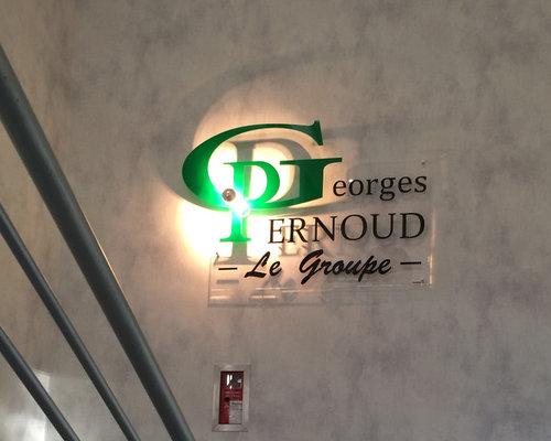 luminaire et Enseigne interieur pour le groupe industriel GEORGES ...