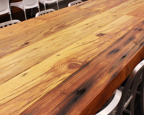 reclaime heart pine table top