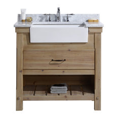 "Marina 36"" Bathroom Vanity, Driftwood Finish"
