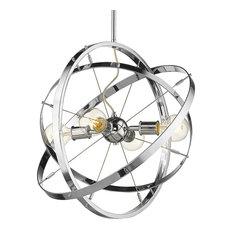 Atom CH 4 Light Chandelier, Chrome