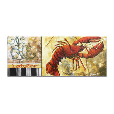 Coastal Decor 'Lobster', Beach Wall Art on Acrylic