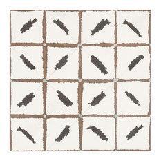 Annie Selke Ikat Black Porcelain Wall and Floor Tile 20 x 20 in.