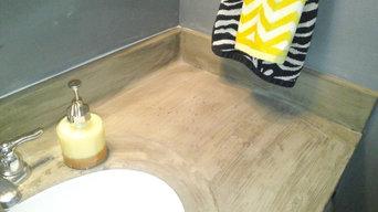 Redo bathroom counter..master