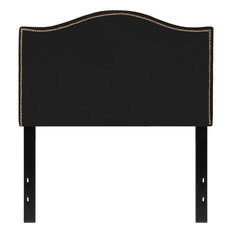 Flash Furniture Lexington Upholstered Twin Panel Headboard In Black