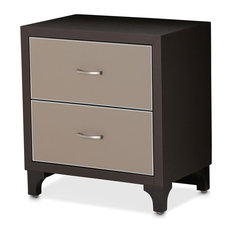 Aico 21 Cosmopolitan 2 Drawer Nightstand Taupe/Umber 9029040-212