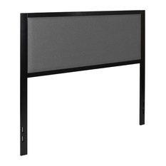 Melbourne Metal Upholstered Full Size Headboard Dark Gray Fabric