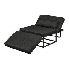 Hawthorne Collection Convertible Chaise Lounge in Charcoal