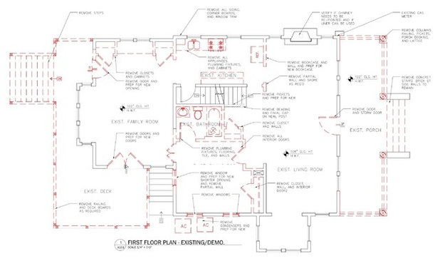 Floor Plan Before and After: Craftsman Style for a Downsizing Couple