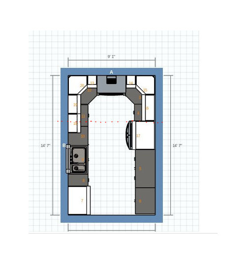 L Shaped Kitchen Designs With Peninsula: Kitchen Design Advice (peninsula Or Small L-shaped Island