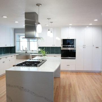 Acrylic Cabinetry & Quartz Countertops