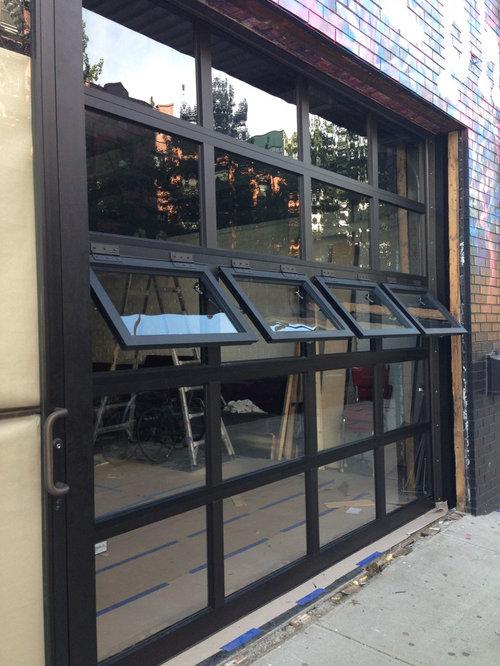 Glass Garage Door Awning Windows