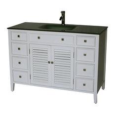 "48"" Cottage Style Single Sink Bathroom Vanity Model 1128-48 W"