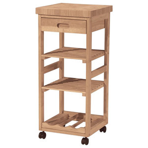 Wood Kitchen Trolley W Square Top