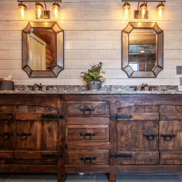 Rustic Log Cabin Master Bath