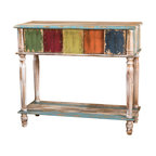 Duplin Console Blue Transitional Console Tables By